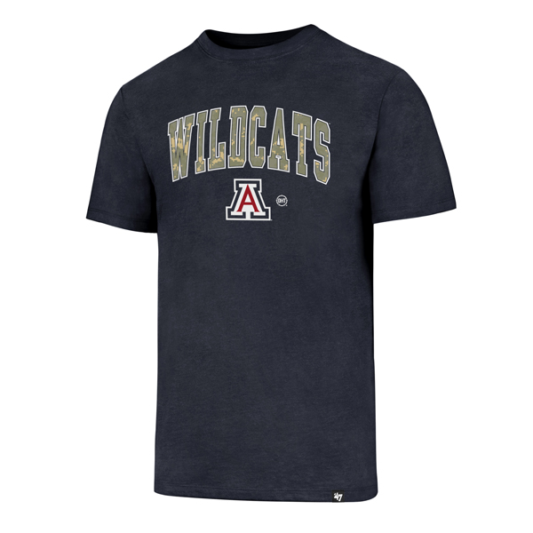 Cover Image For '47 Arizona Wildcats Operation Hat Trick Club Tee Navy