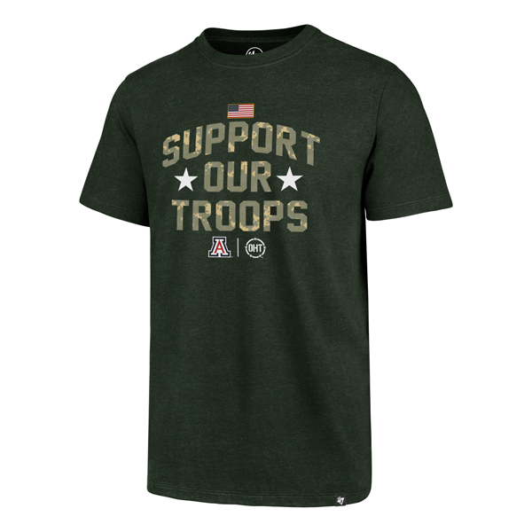 Image For '47 Arizona SUPPORT OUR TROOPS Operation Hat Trick Tee