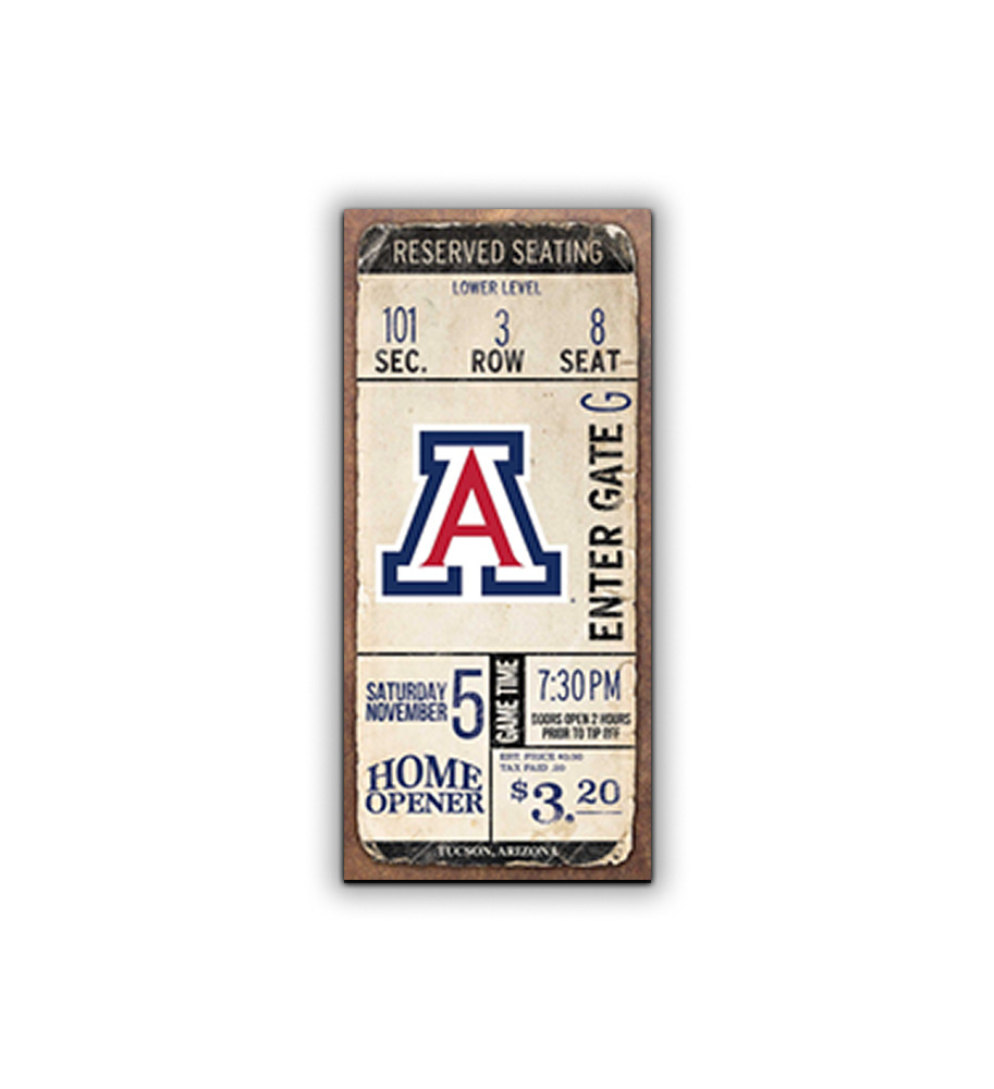 Image For Artissimo: Arizona Wildcats Classic Ticket Tip Off Sign