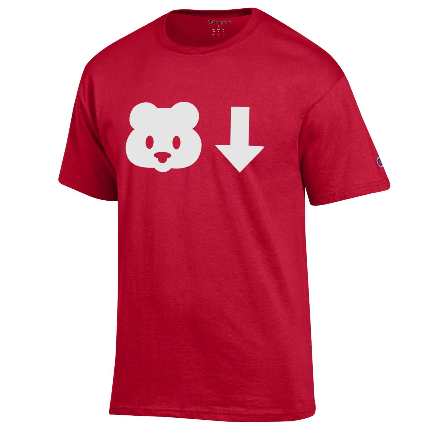 Image For Champion: Arizona Bear Down Symbols T-Shirt Red