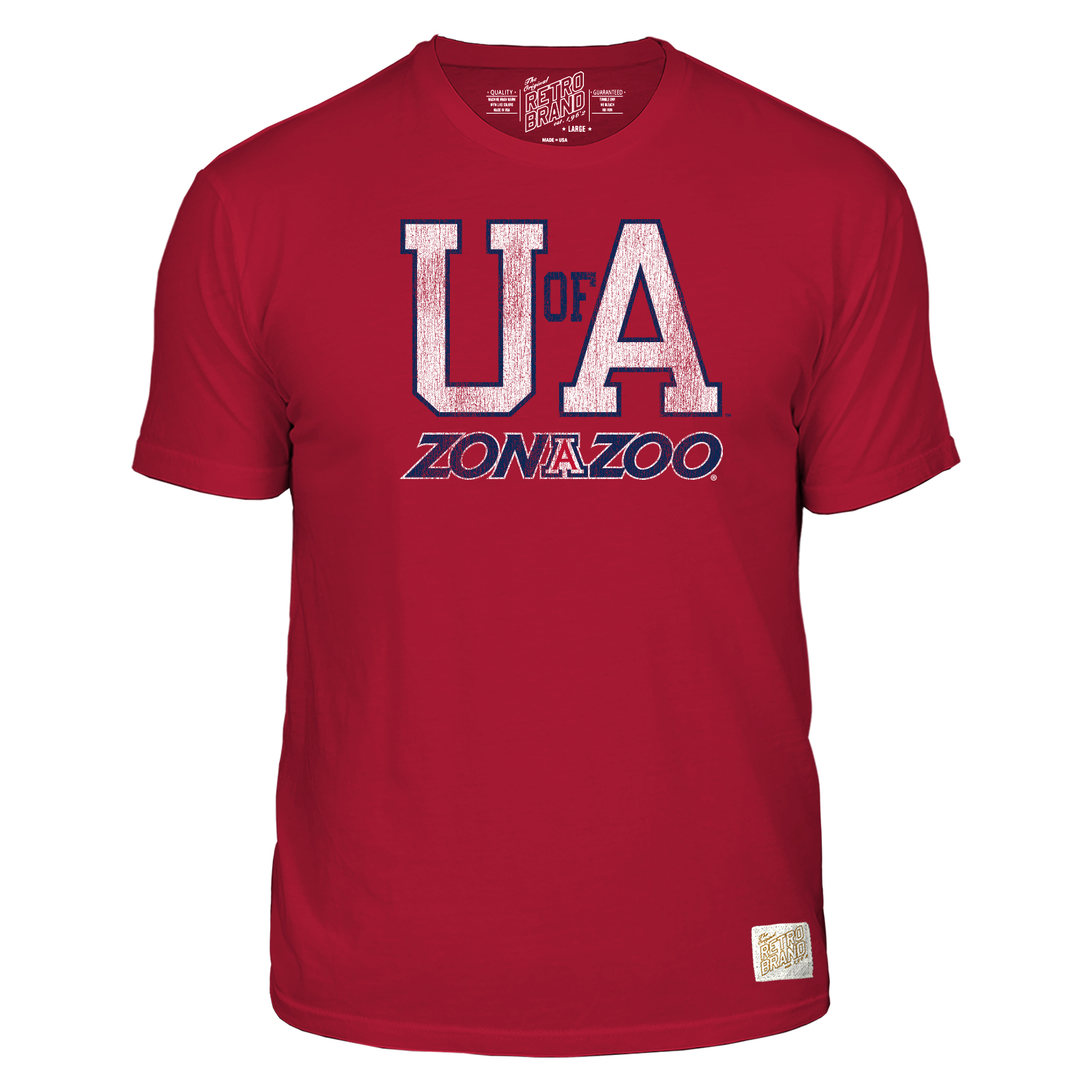 Image For Retro Brand: Arizona UofA Zona Zoo Tee - Red
