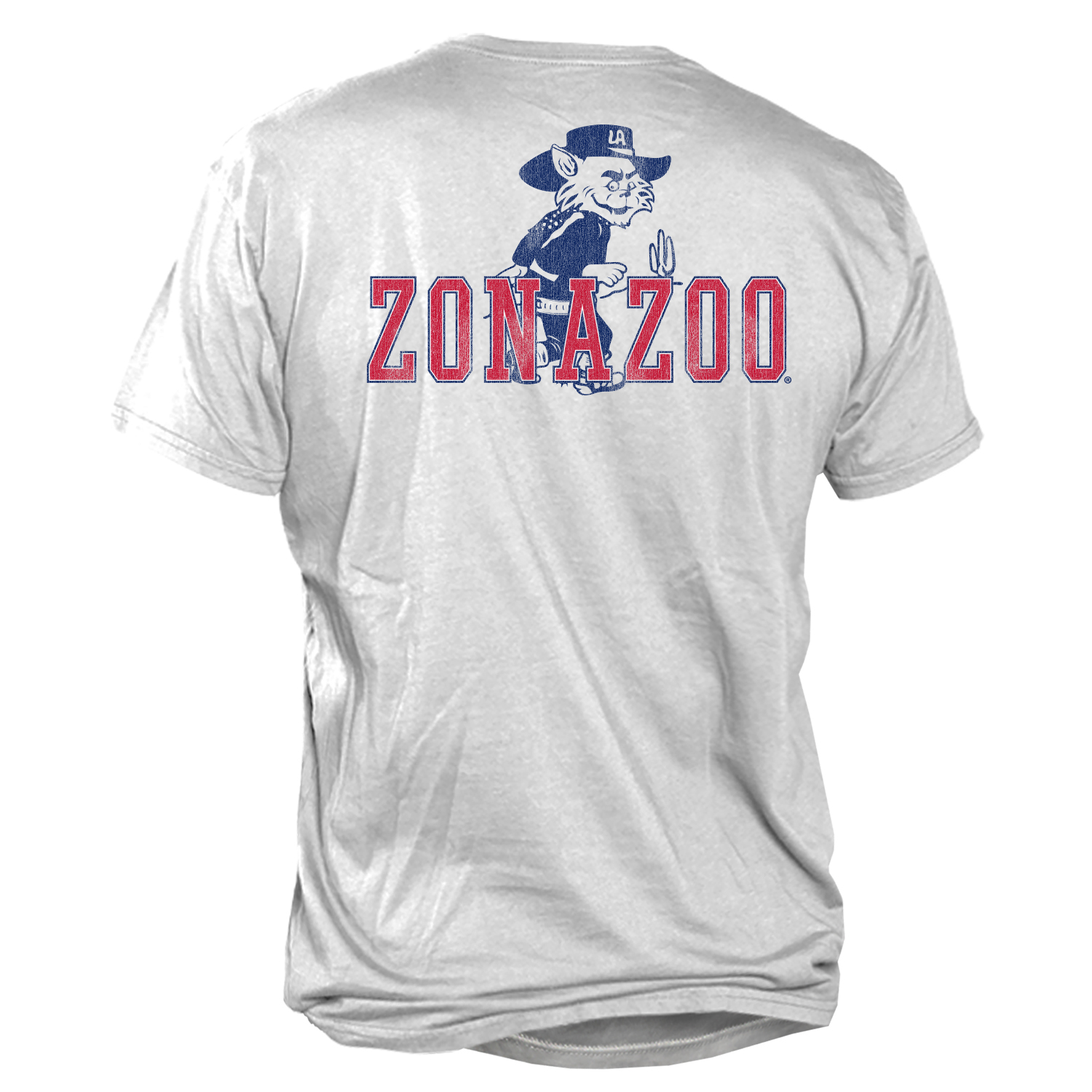Image For Retro Brand: Arizona Vintage Wilbur Zona Zoo Pocket Tee