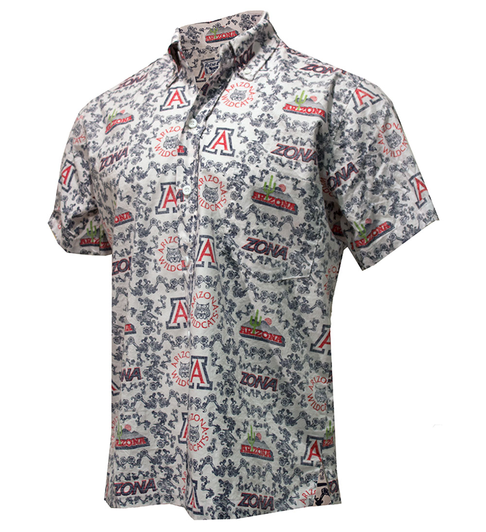 Image For Retro Brand: Arizona Wildcats ZONA Hawaiian Shirt White