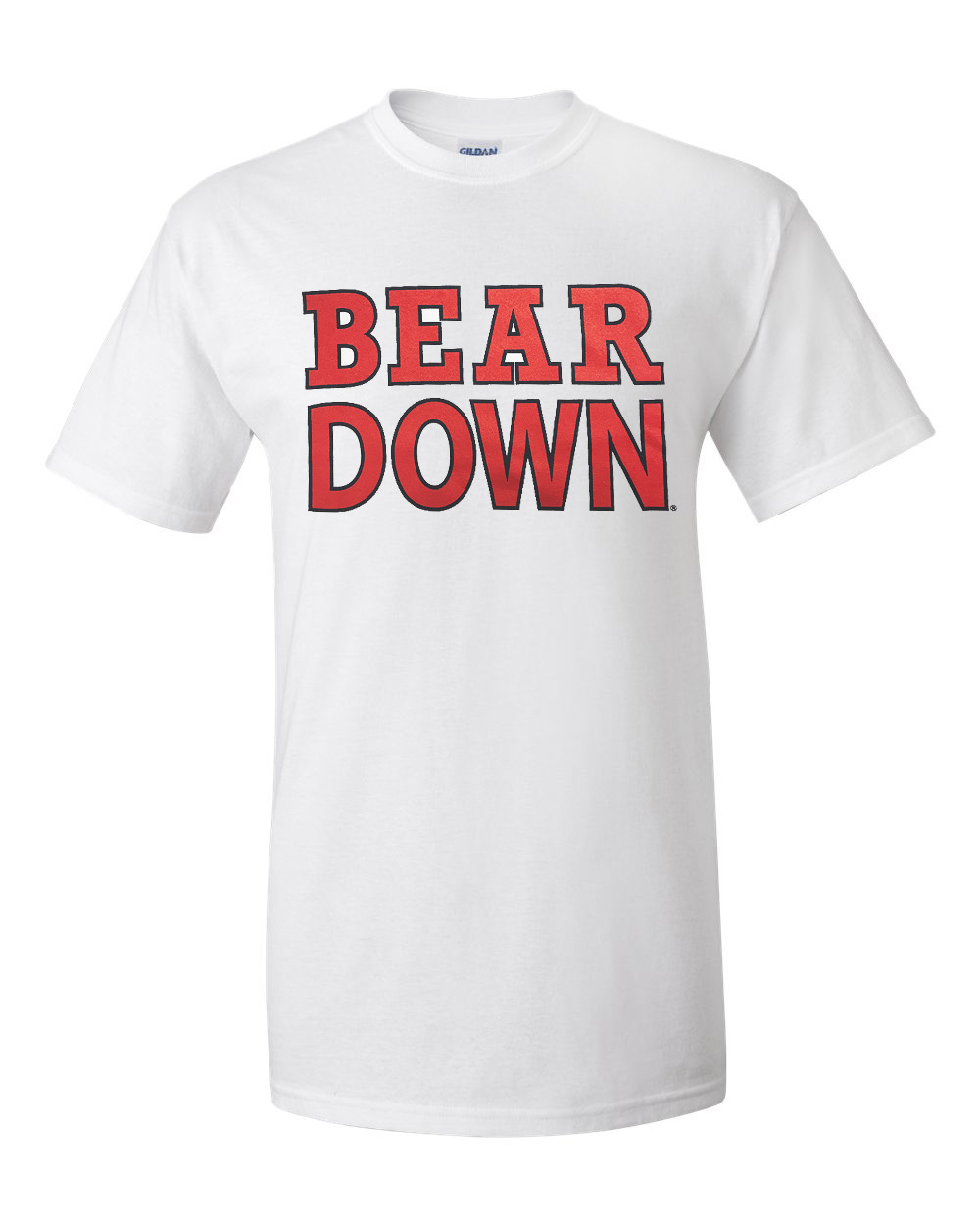 Image For The Victory: BEAR DOWN White Tee