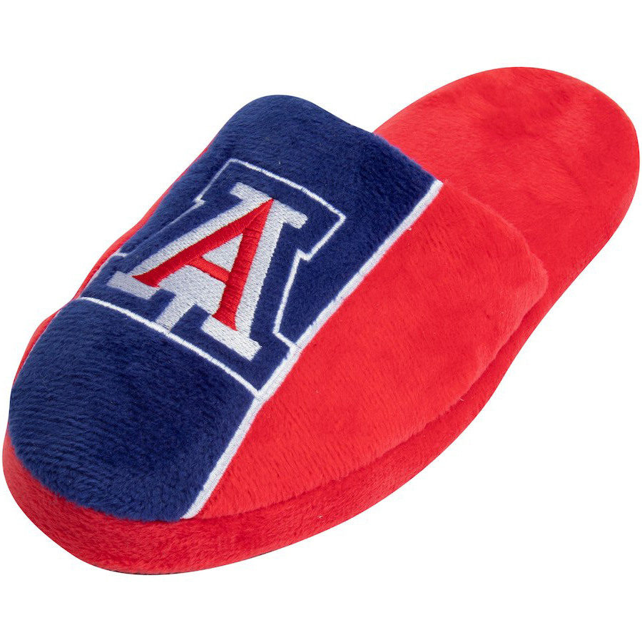 Image For Forever Collectibles: Arizona Big Logo Stripe Slippers