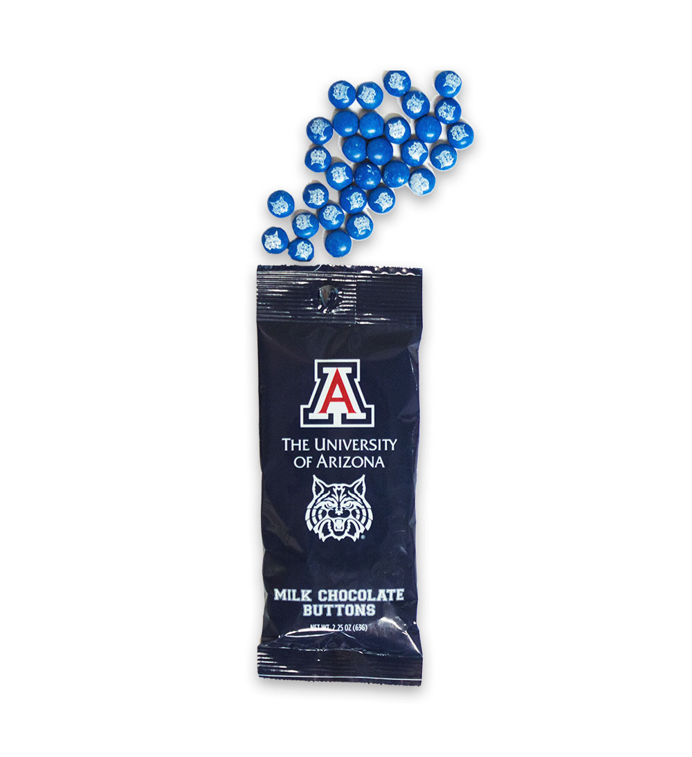 Image For Jardin: Arizona Wildcats Milk Chocolate Buttons