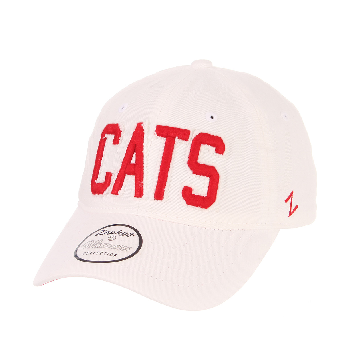 Image For Zephyr: Arizona CATS Women's Belle Cap - White / Red