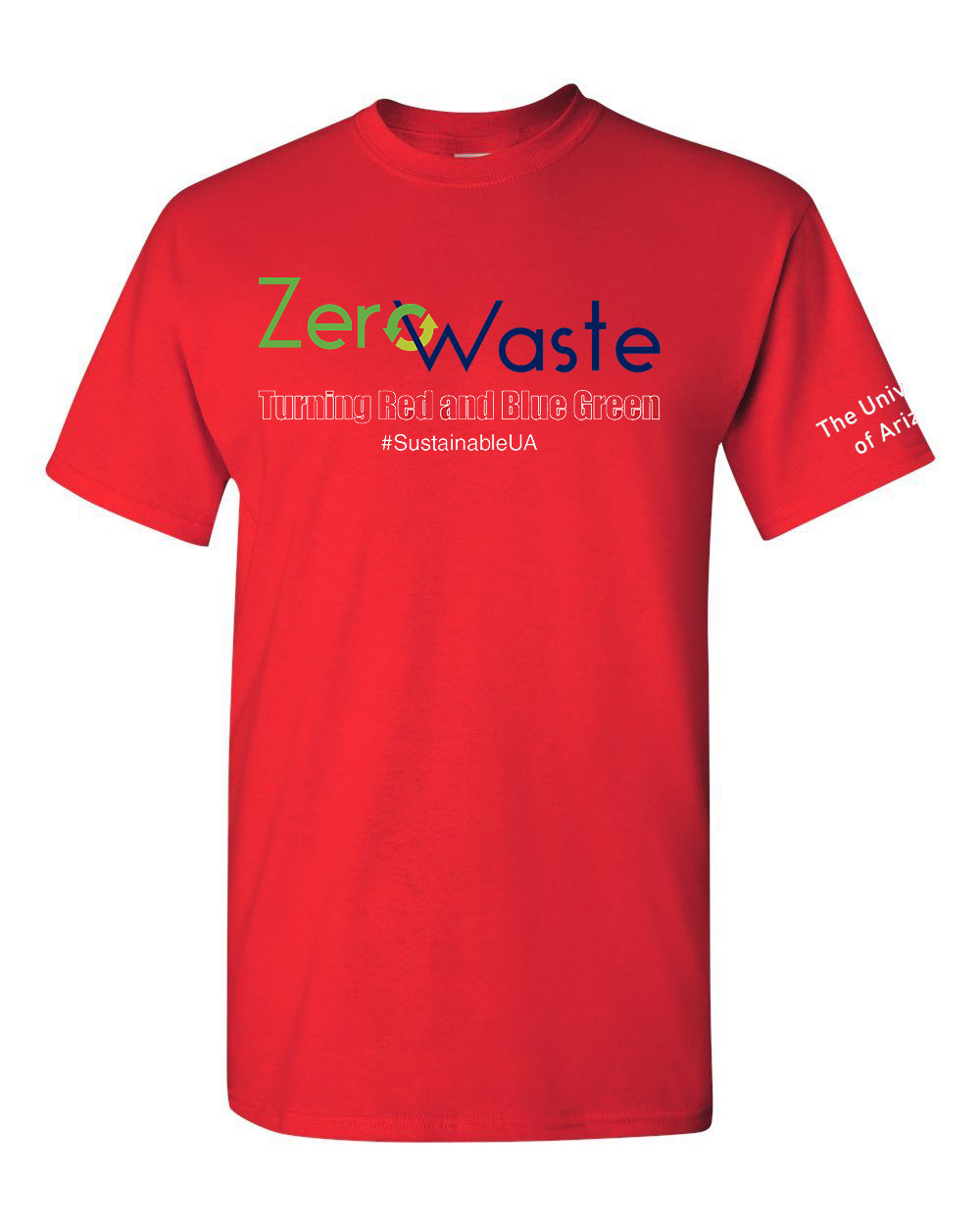 Image For Zero Waste Turning Red & Blue Greening the Game Tee