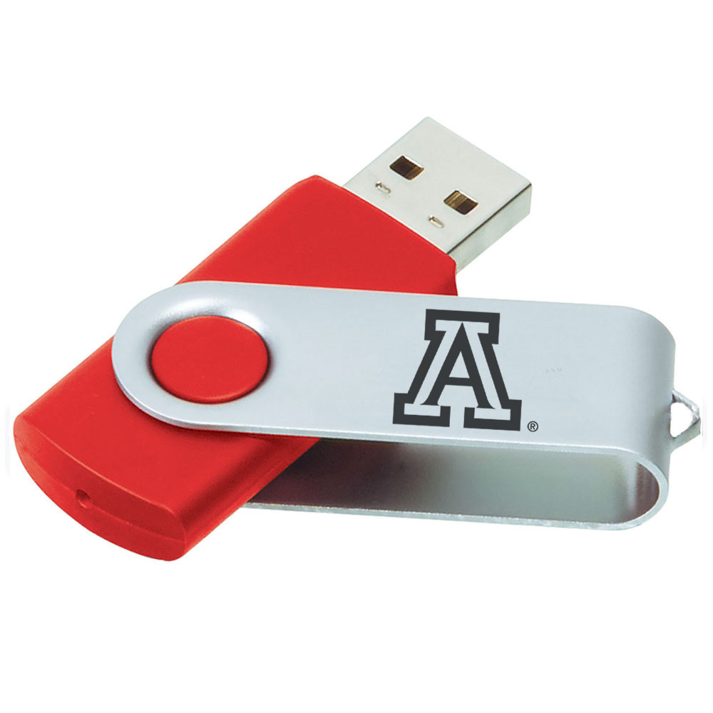 Image For LXG Inc: Arizona Team Logo Swivel USB Thumb Drive
