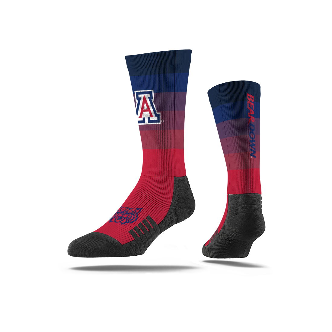 Image For Strideline: Arizona  Wildacat Face Gradient Crew