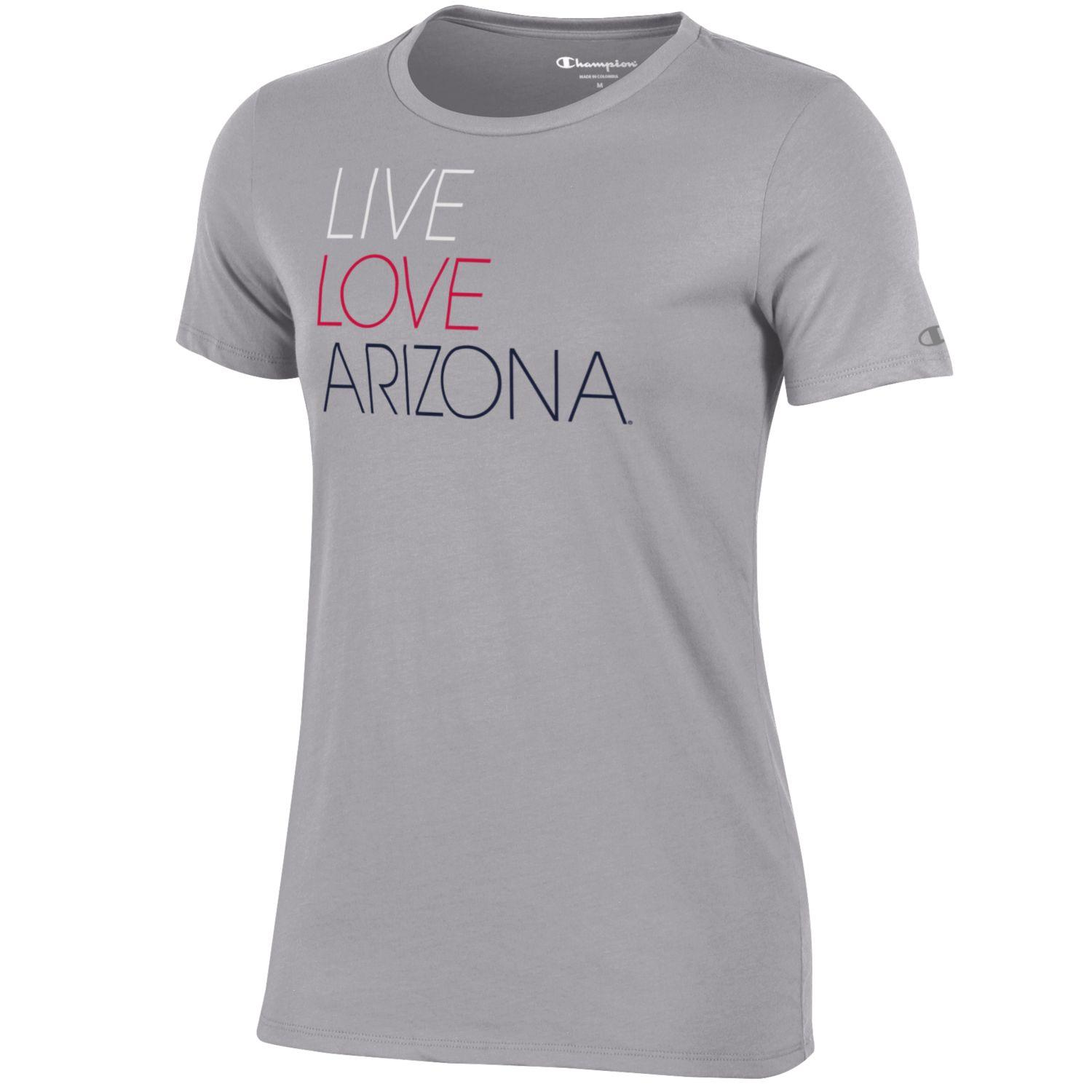 c8bd948da147 Champion: Arizona LIVE LOVE Women's University Tee - Grey
