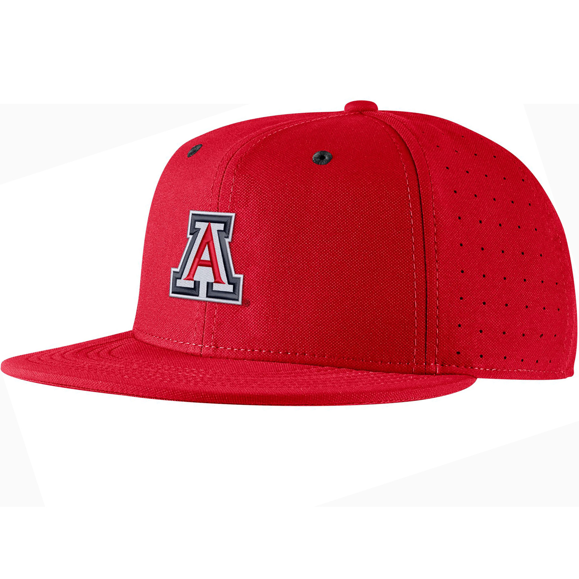 Image For Nike: Arizona Aero True Baseball Size Fitted Cap - Red