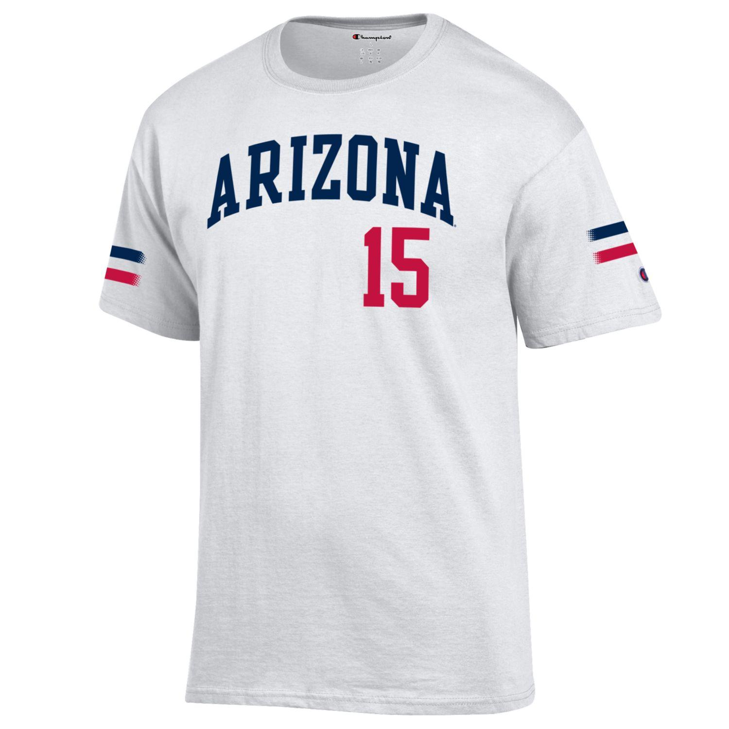 Cover Image For Champion: Arizona Trevor Hoffman #15 White Tee