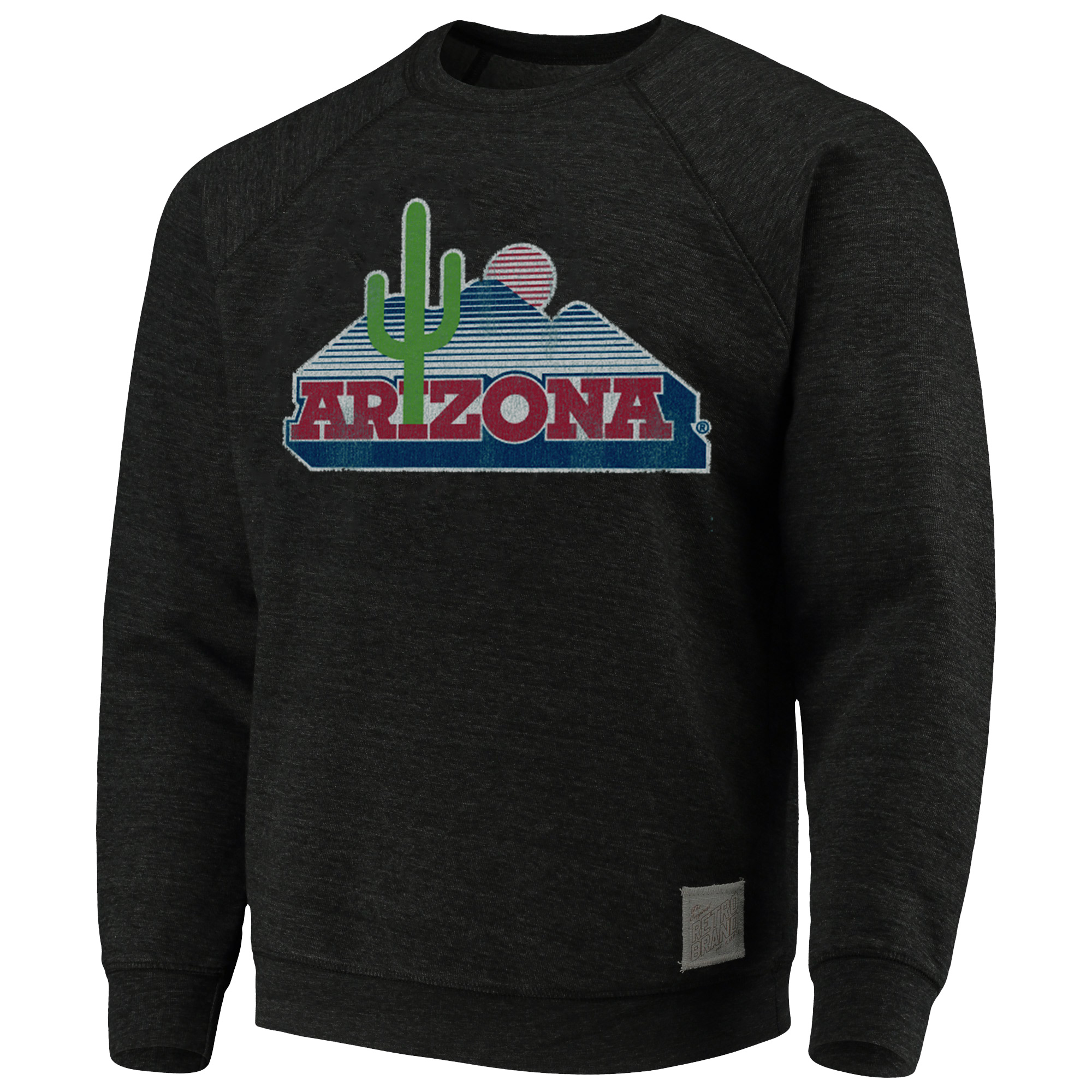 Image For Retro Brand: Arizona Vintage Cactus Crew Sweatshirt- Black