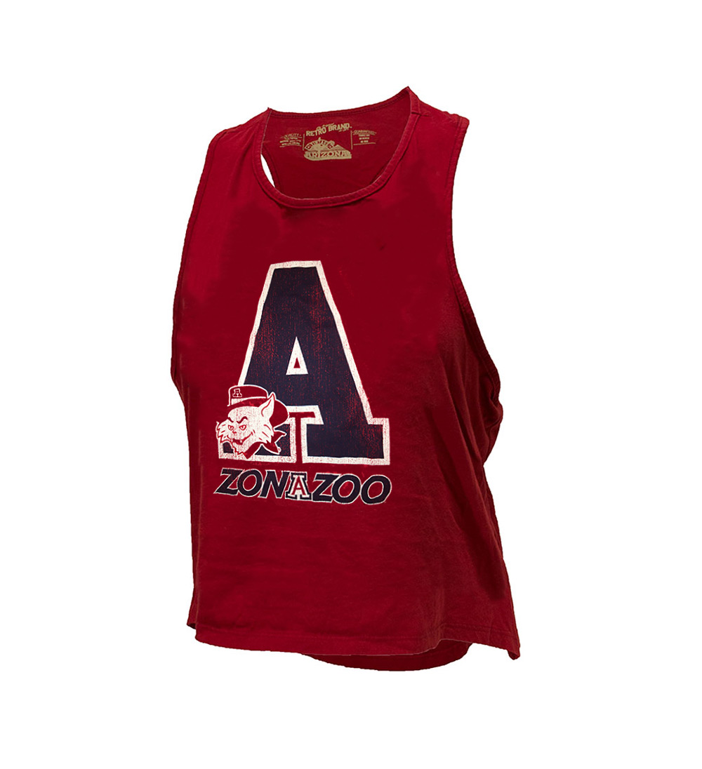 Image For Retro Brand: Arizona Women's Zona Zoo Rayon Tank - Red