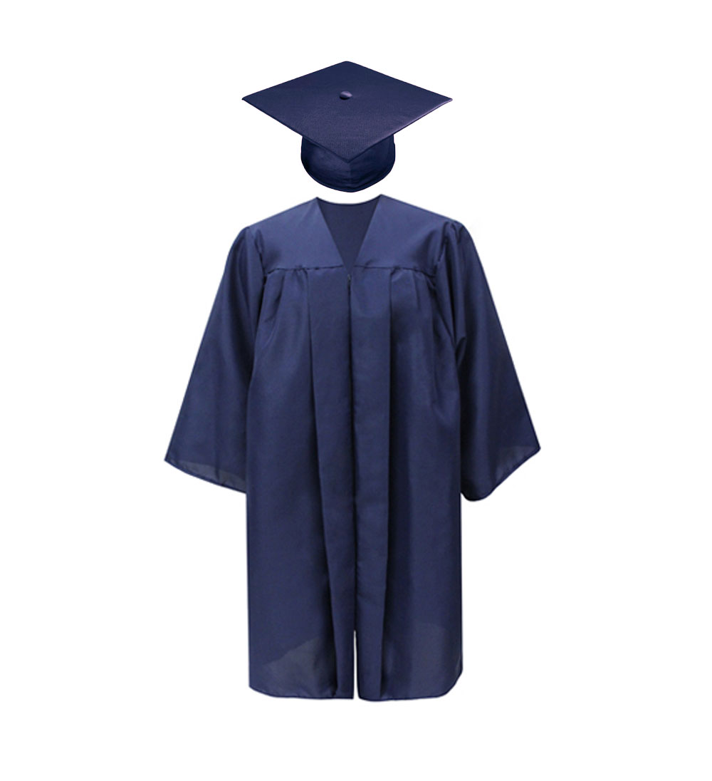 Cover Image For Bachelor Student Navy Cap & Gown By Jostens