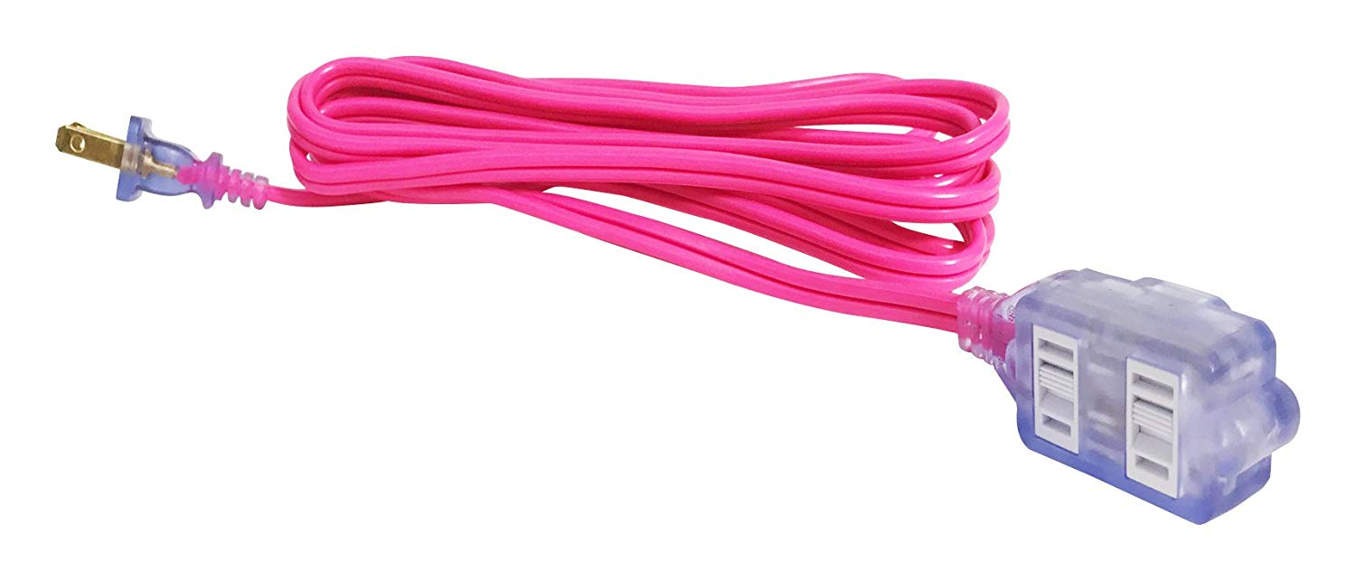 Image For Century: Pro Glo Hot Pink 9ft. Extension Cord