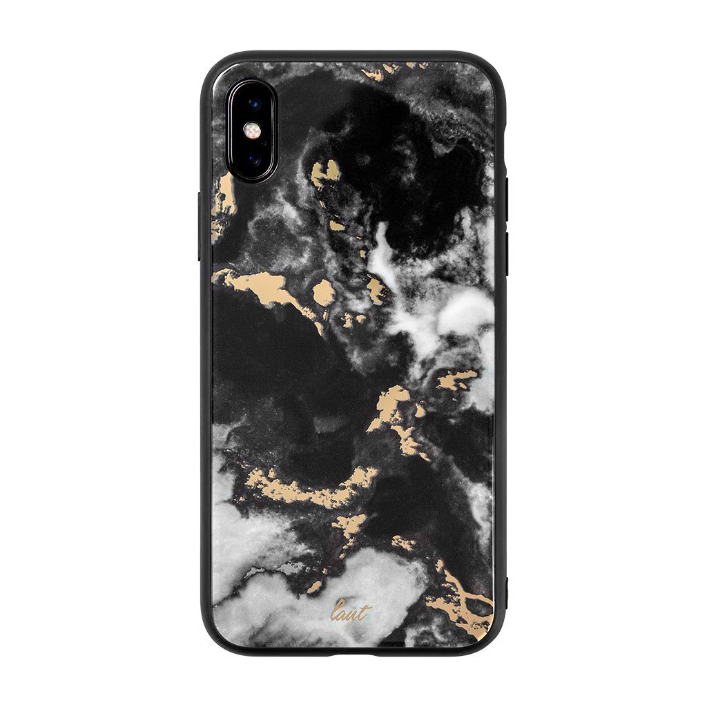 Image For LAUT: MINERAL GLASS for iPhone XS Max - Black