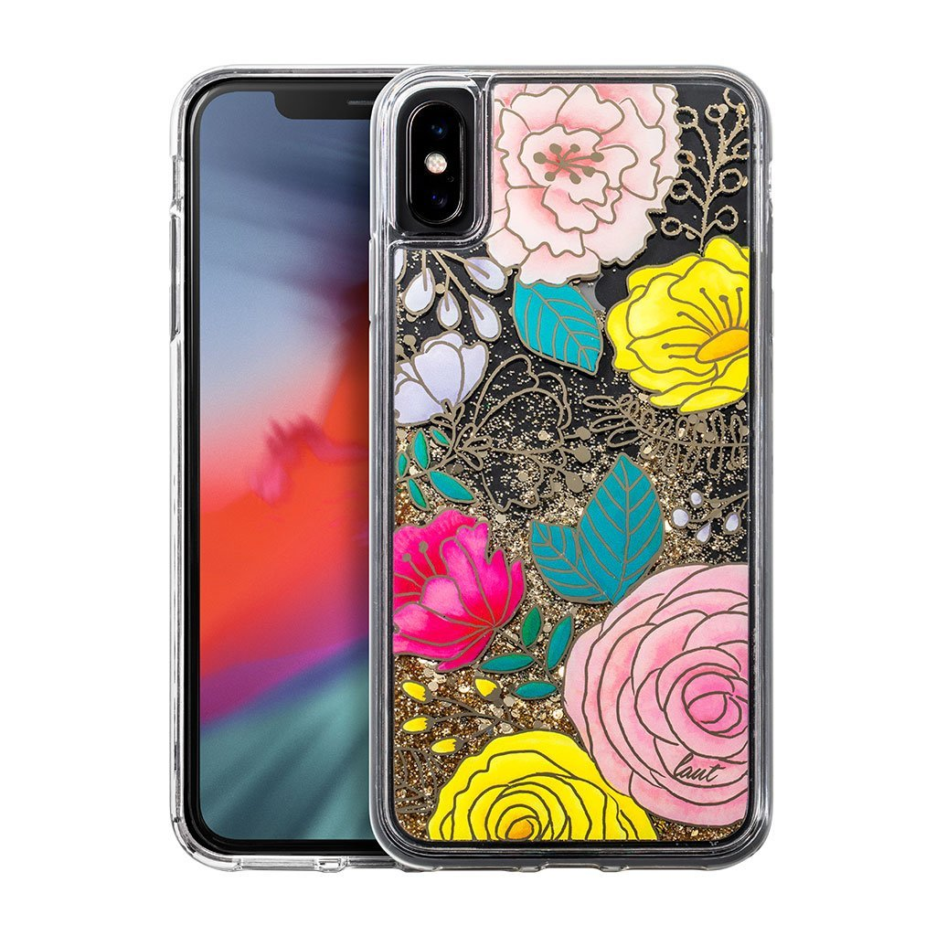 Image For LAUT: GLITTER FLORAL for iPhone XS Max