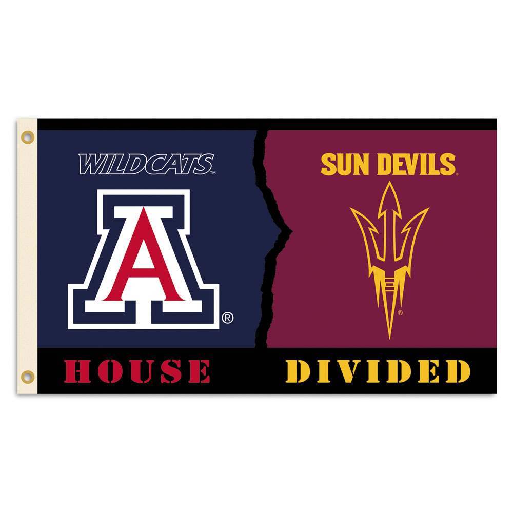 Image For Flag: Arizona Wildcat ASU Flag Rivalry House Divided