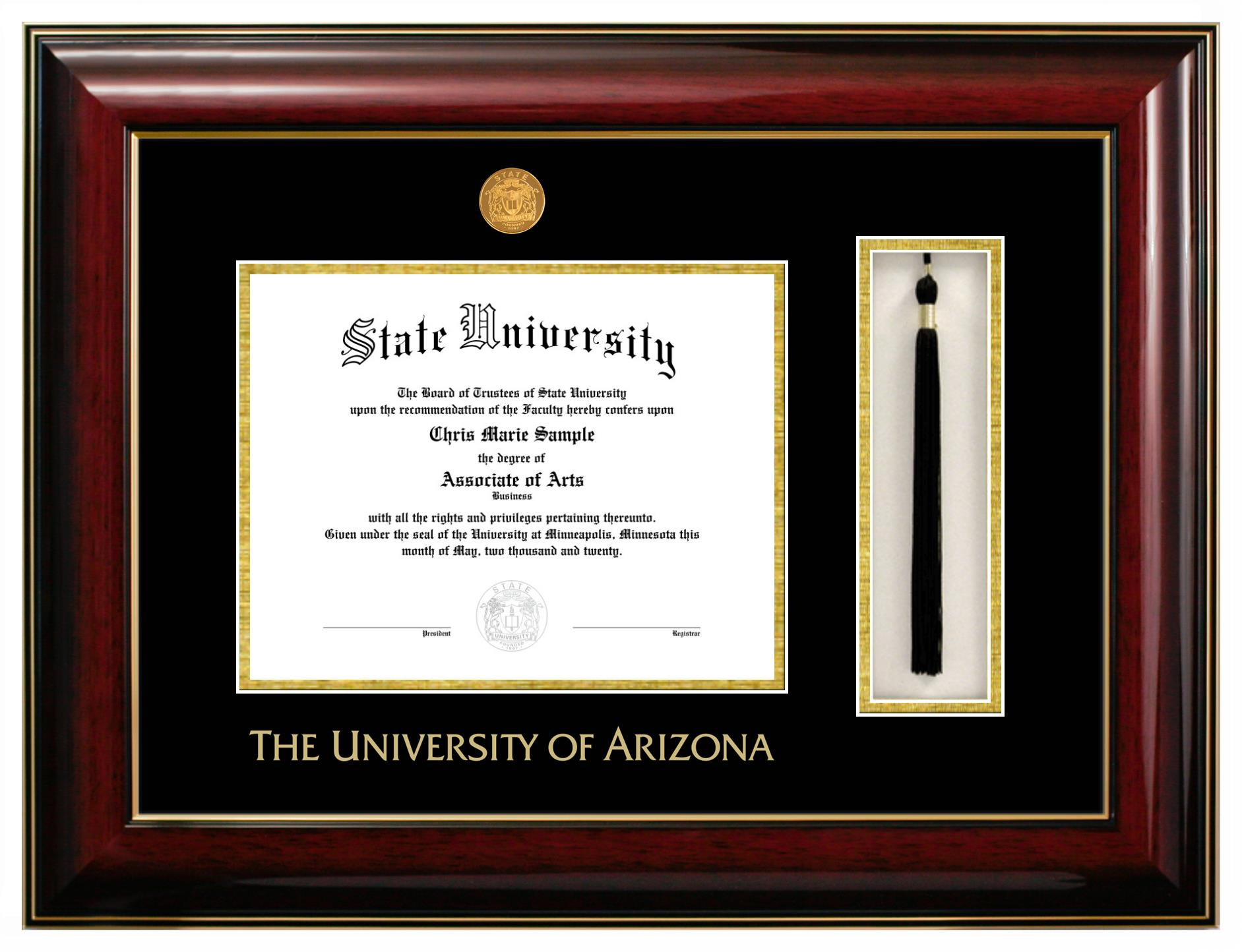 Cover Image For Diploma Frame: University of Arizona Classic Tassel