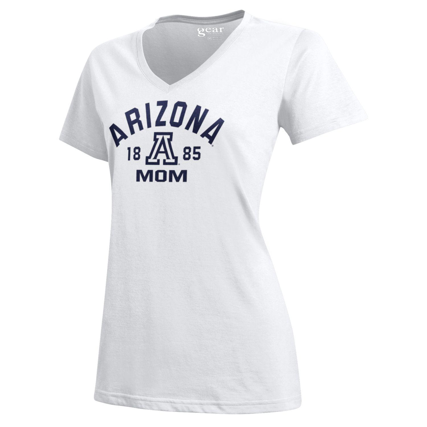 Cover Image For Gear: Arizona 'A' 1885 Mom T-Shirt - White