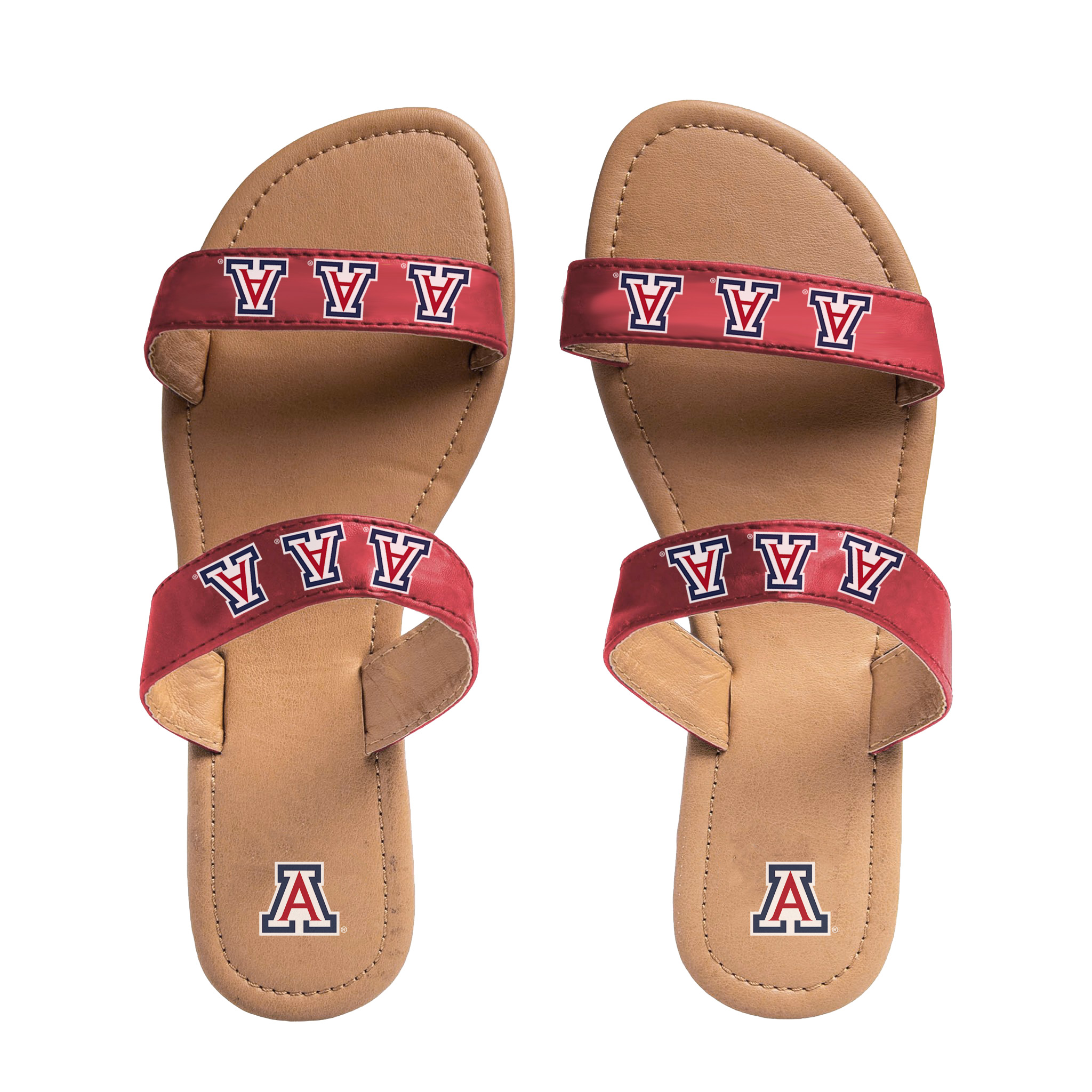 Image For Forever Collectibles: Arizona Double Strap Slide Sandals