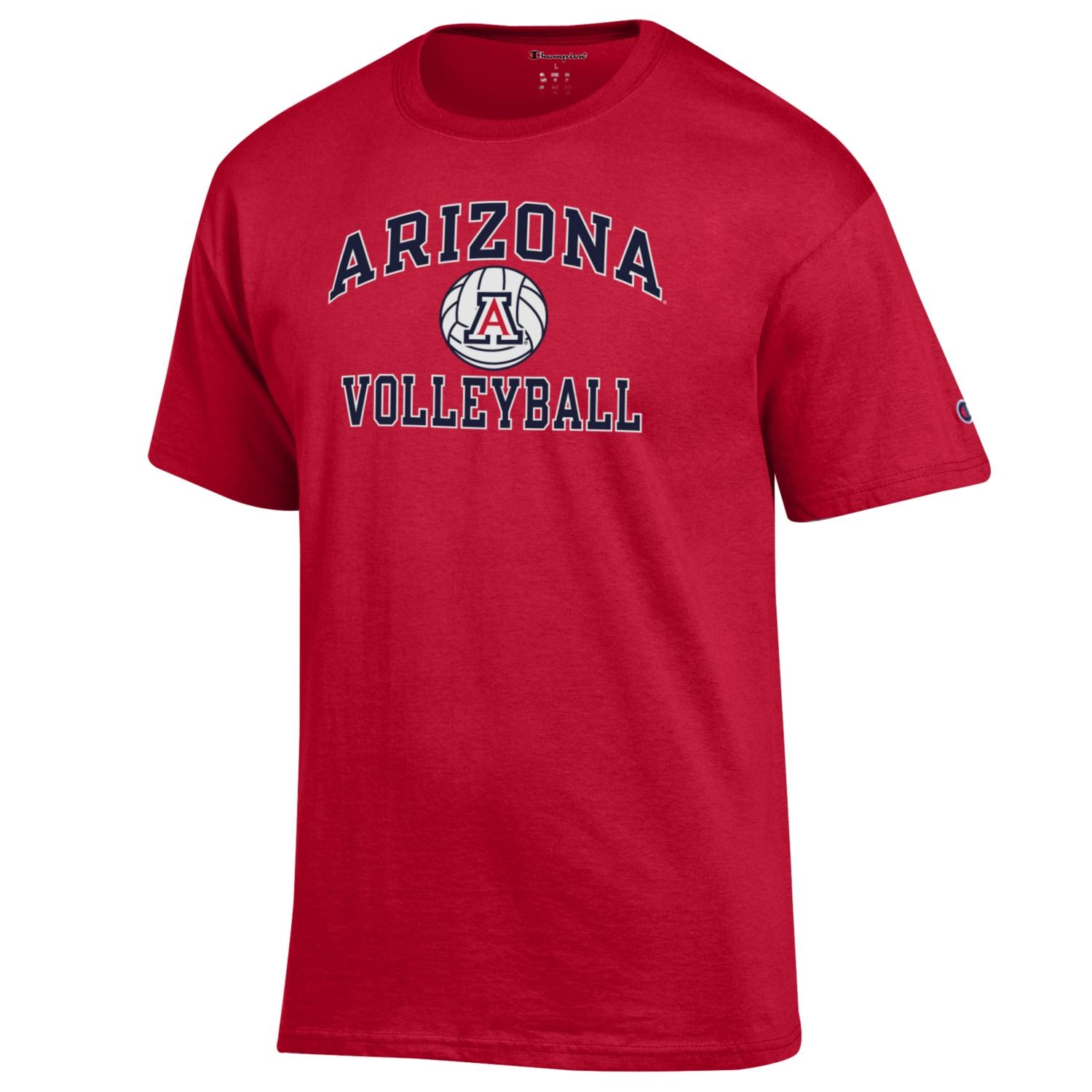 Image For Champion: Arizona Sport Volleyball Tee - Red