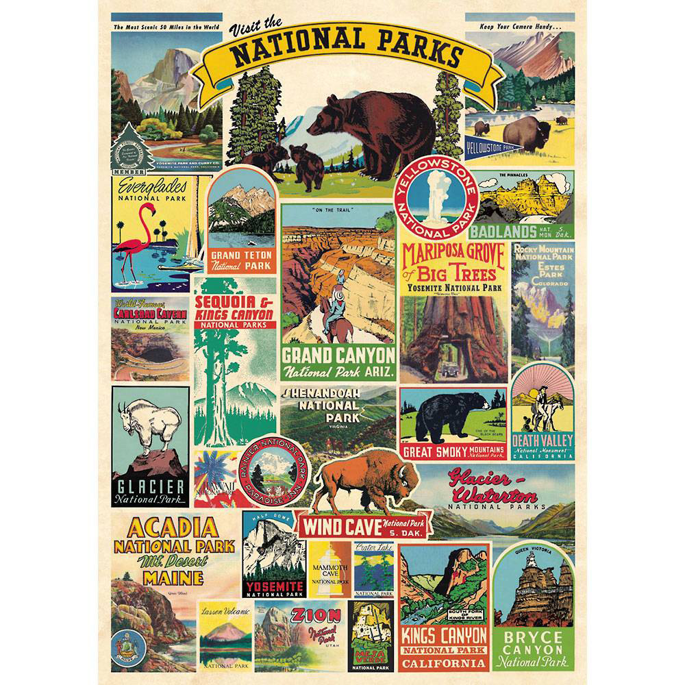 Image For Cavallini & Paper: National Parks Decorative Wrap