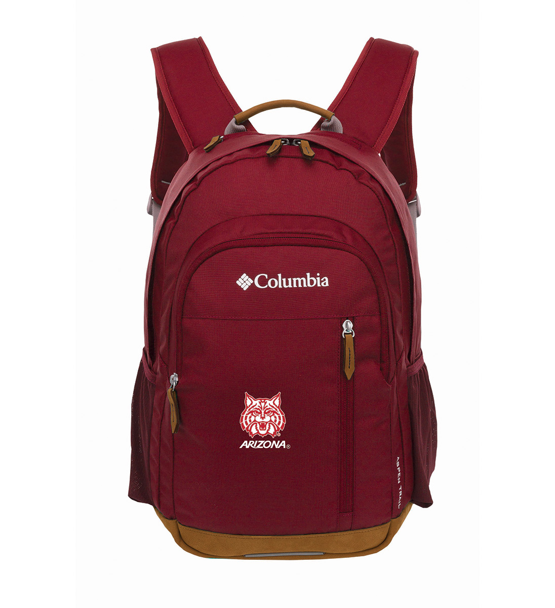 Image For Columbia: Arizona Wildcats Aspen Trail Daypack - Red Velvet