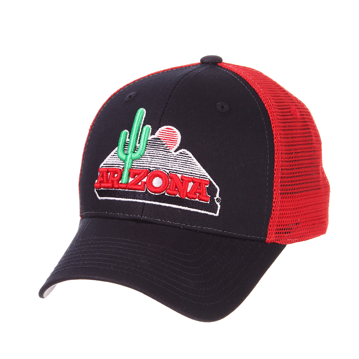 Image For Zephyr: Arizona Team Cactus Logo Big Rig Trucker Cap