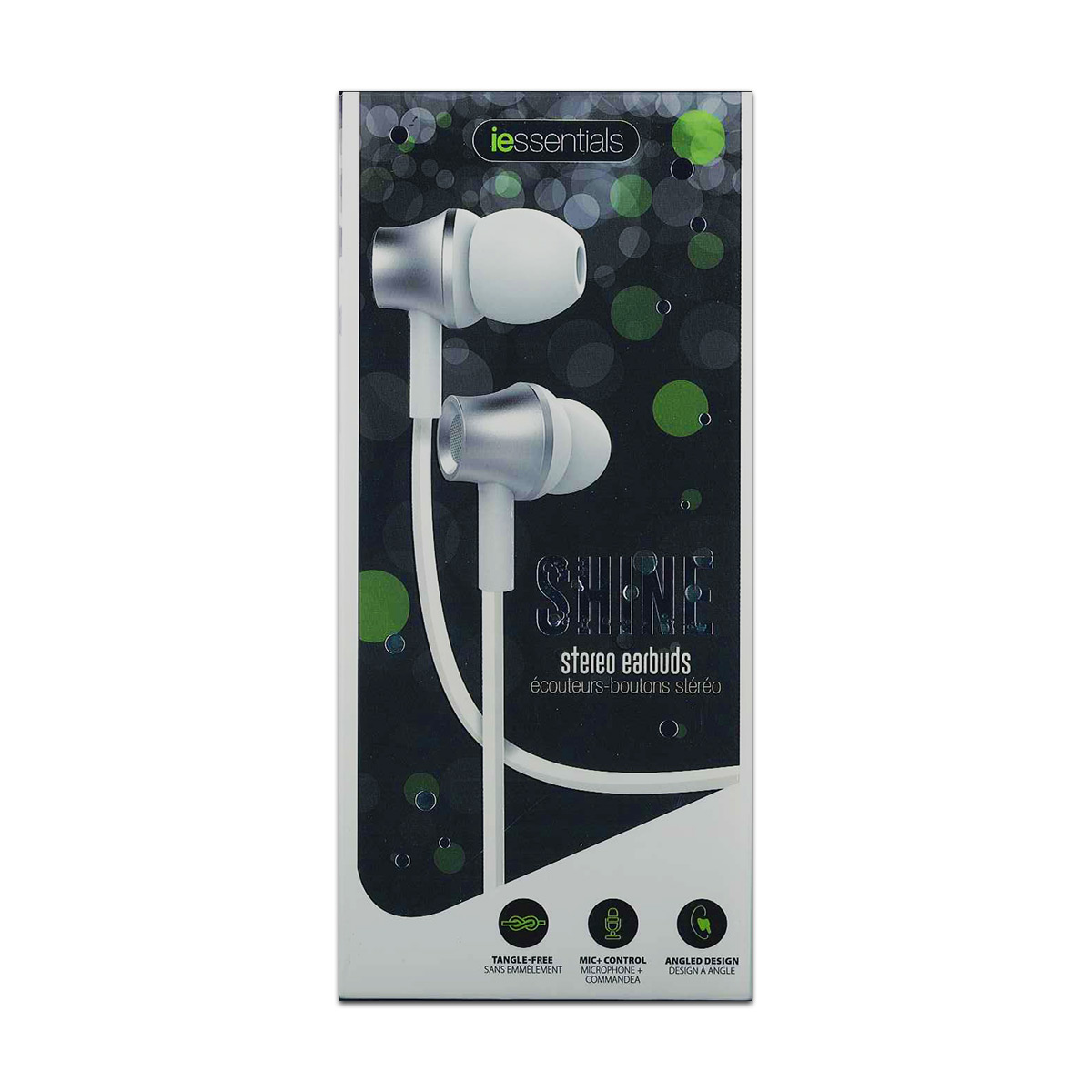 Image For iEssentials: Shine Stereo Earbuds - White / Sliver