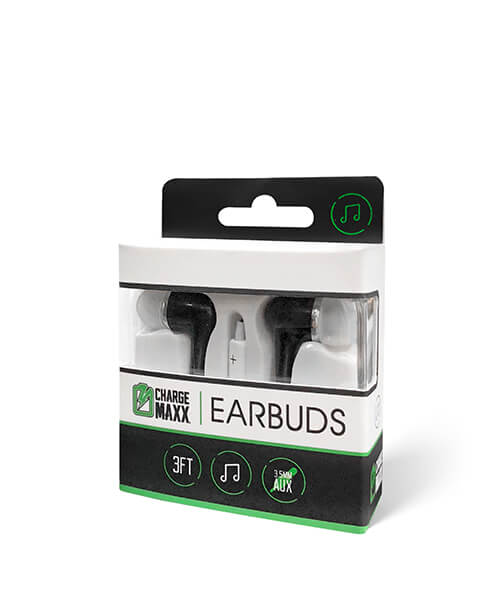 Image For Charge MAXX: Premium Earbuds - Black