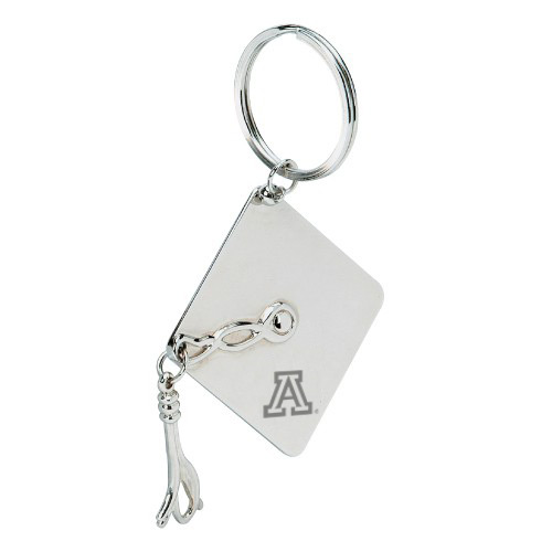 Image For Keychain: Arizona Graduation Cap Polished Metal
