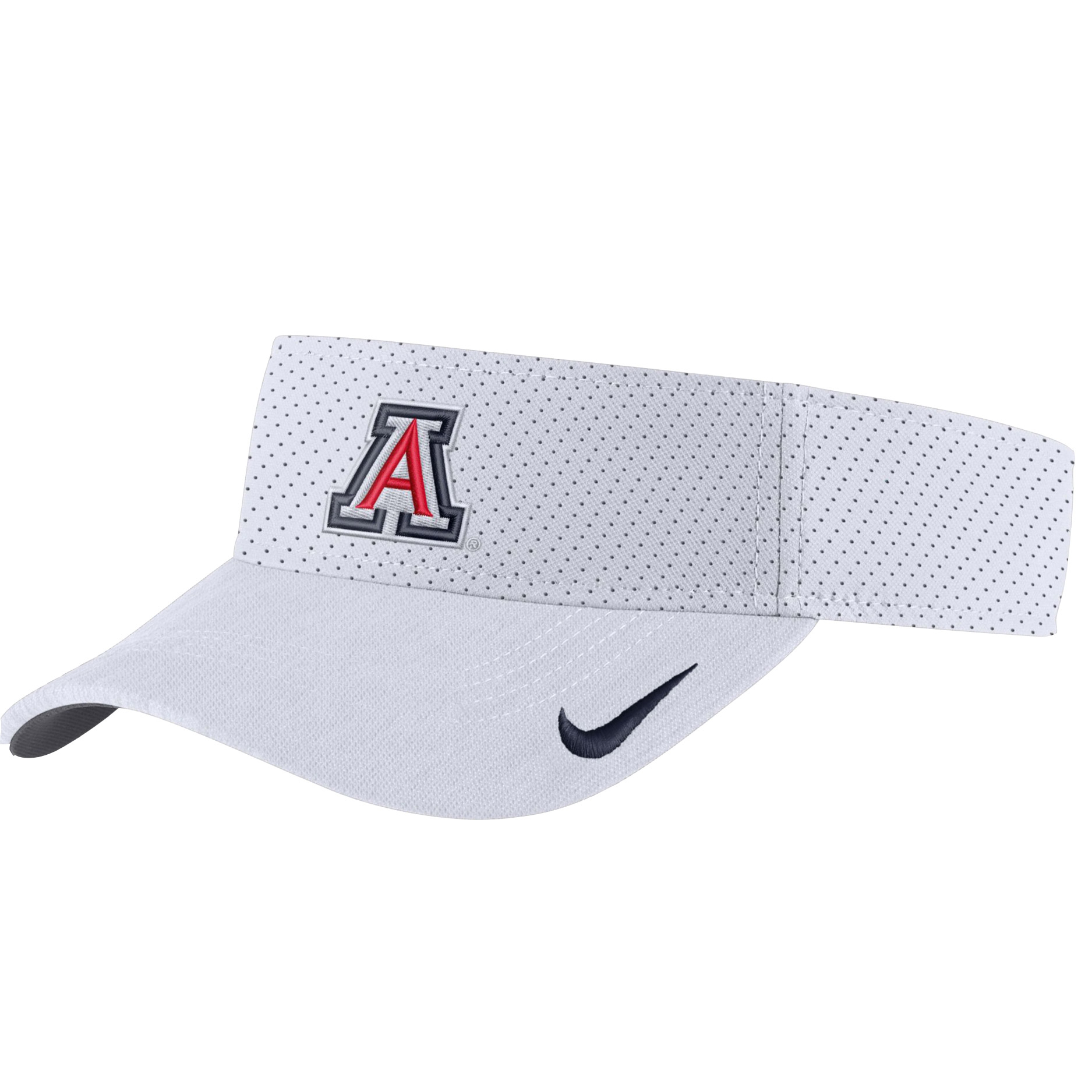 Image For Nike: Arizona AeroBill Sideline Visor - White