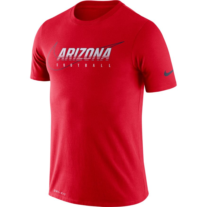 Image For Nike: Arizona FOOTBALL Facility Tee - Red