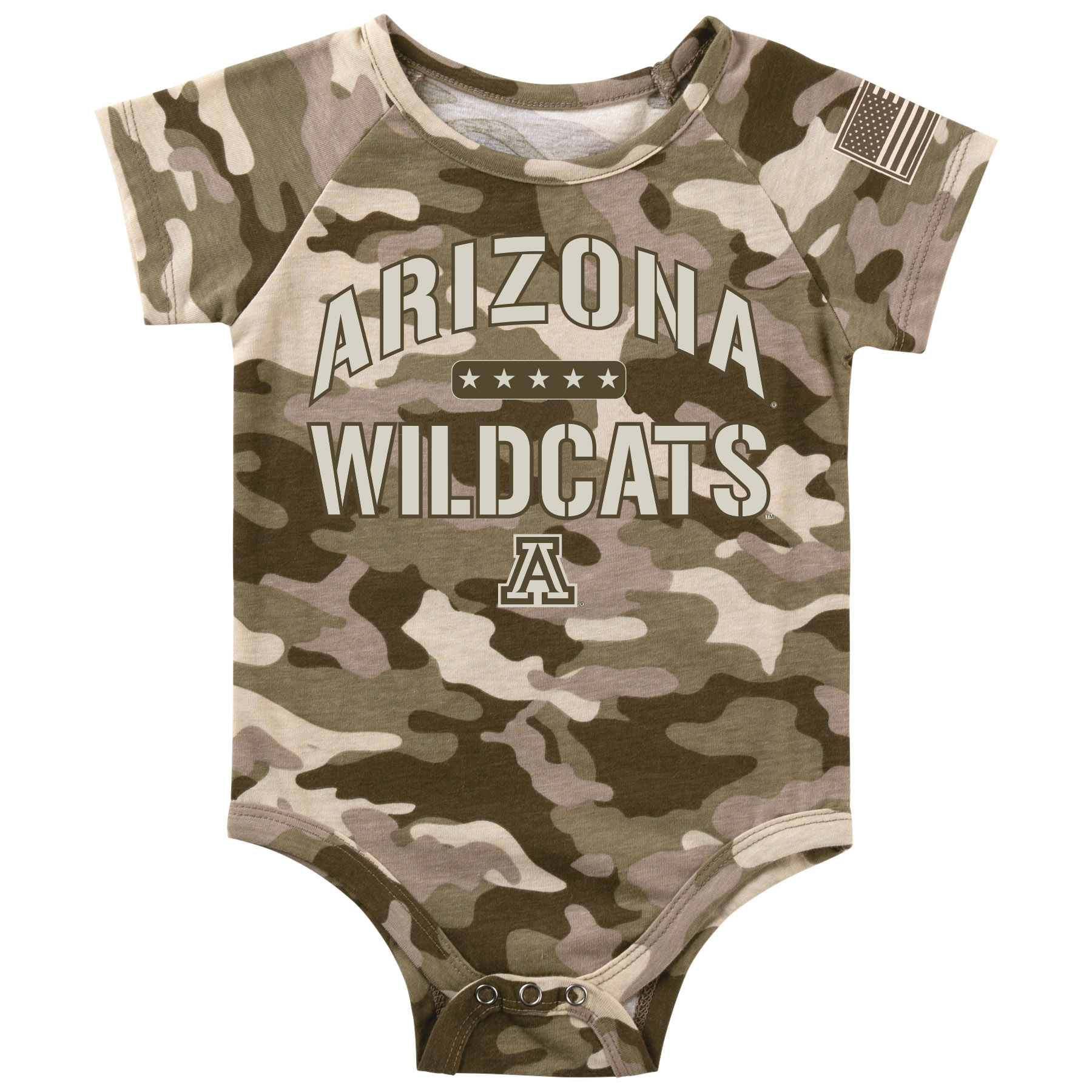 Image For Colosseum: ARIZONA WILDCATS Operation Hat Trick Baby Onsie