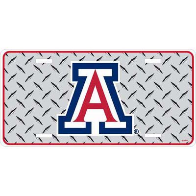 Image For Game Day Outfitters: Arizona Chrome Diamond Plate Car Tag