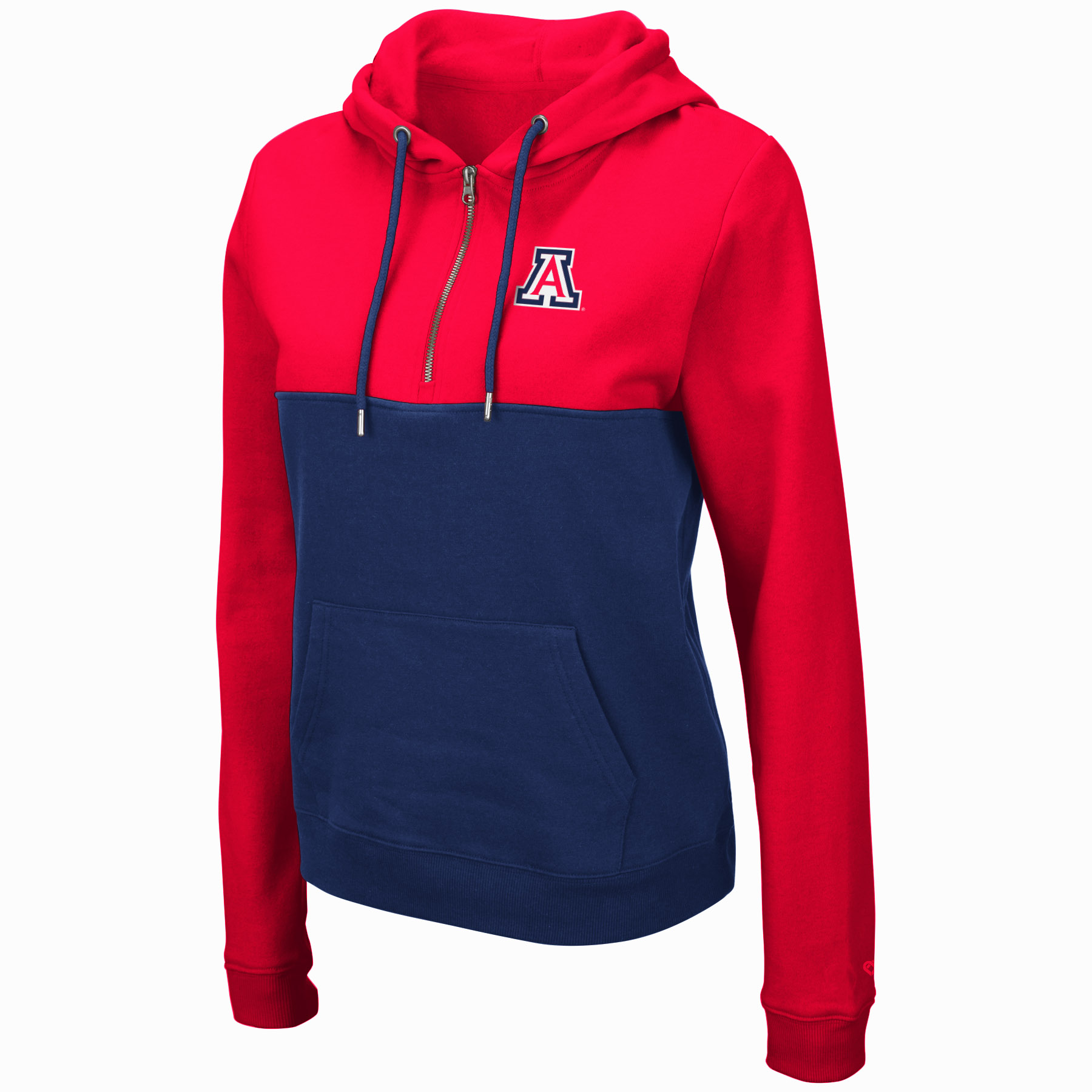 Image For Colosseum: Arizona Women Aidan 1/2 Zip Hoodie
