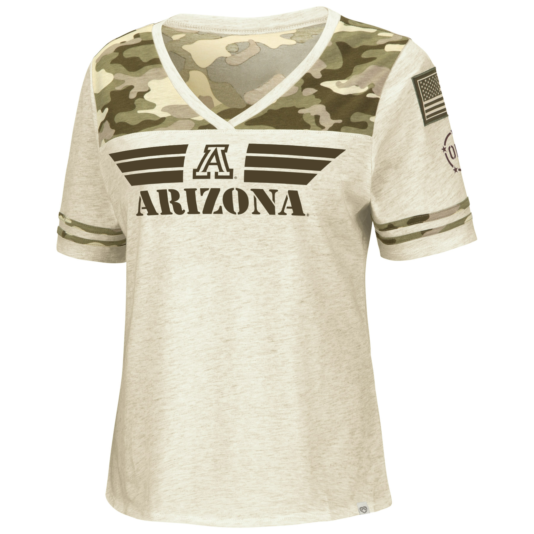 Image For Colosseum: ARIZONA Women's Operation Hat Trick V-Neck Tee