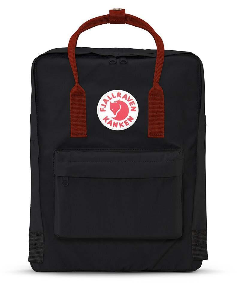 Image For Fjallraven: Kanken Backpack-Black Ox Red