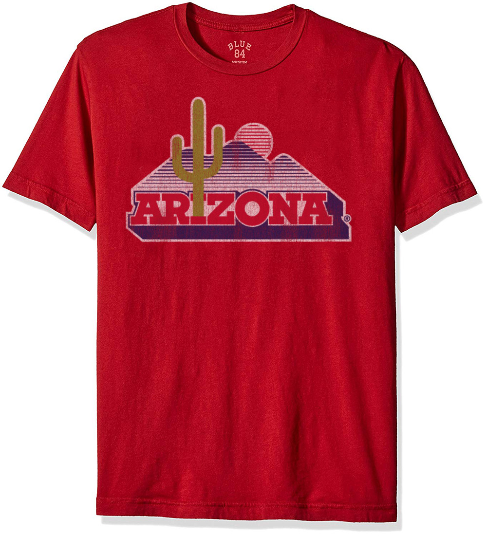 Image For Blue 84: Arizona Vintage Cacuts Logo Dyed Tee - Red
