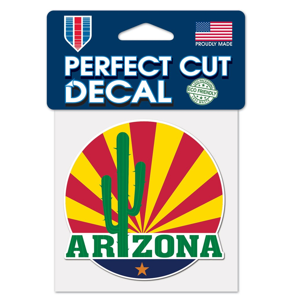 Image For Decal: ARIZONA Cactus Sunset Perfect Cut Decal