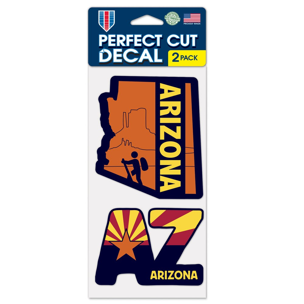 Image For Decal: ARIZONA Hiker AZ Sunset 2 Pack Perfect Cut