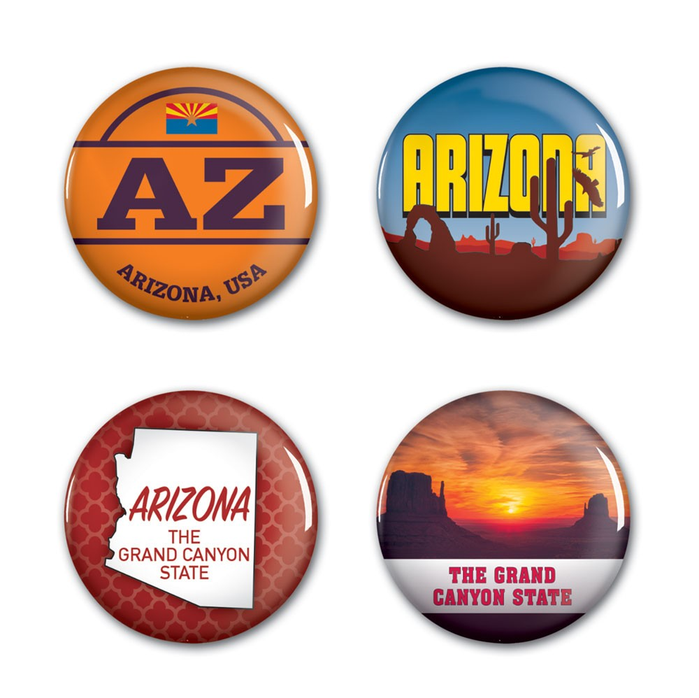Image For Buttons: Arizona 4 Pack by Wincraft