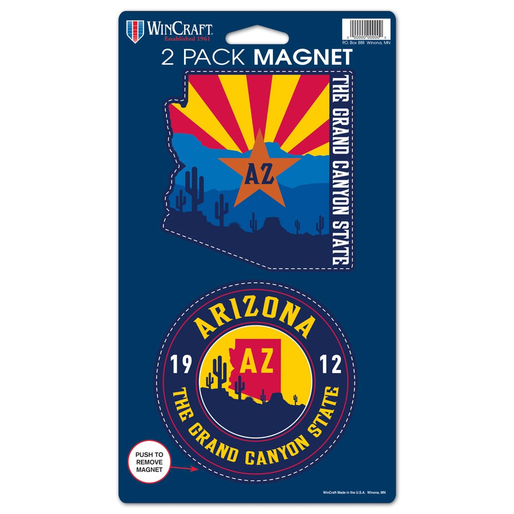 Image For Magnet: Arizona Grand Canyon State 2 Pack by Wincraft