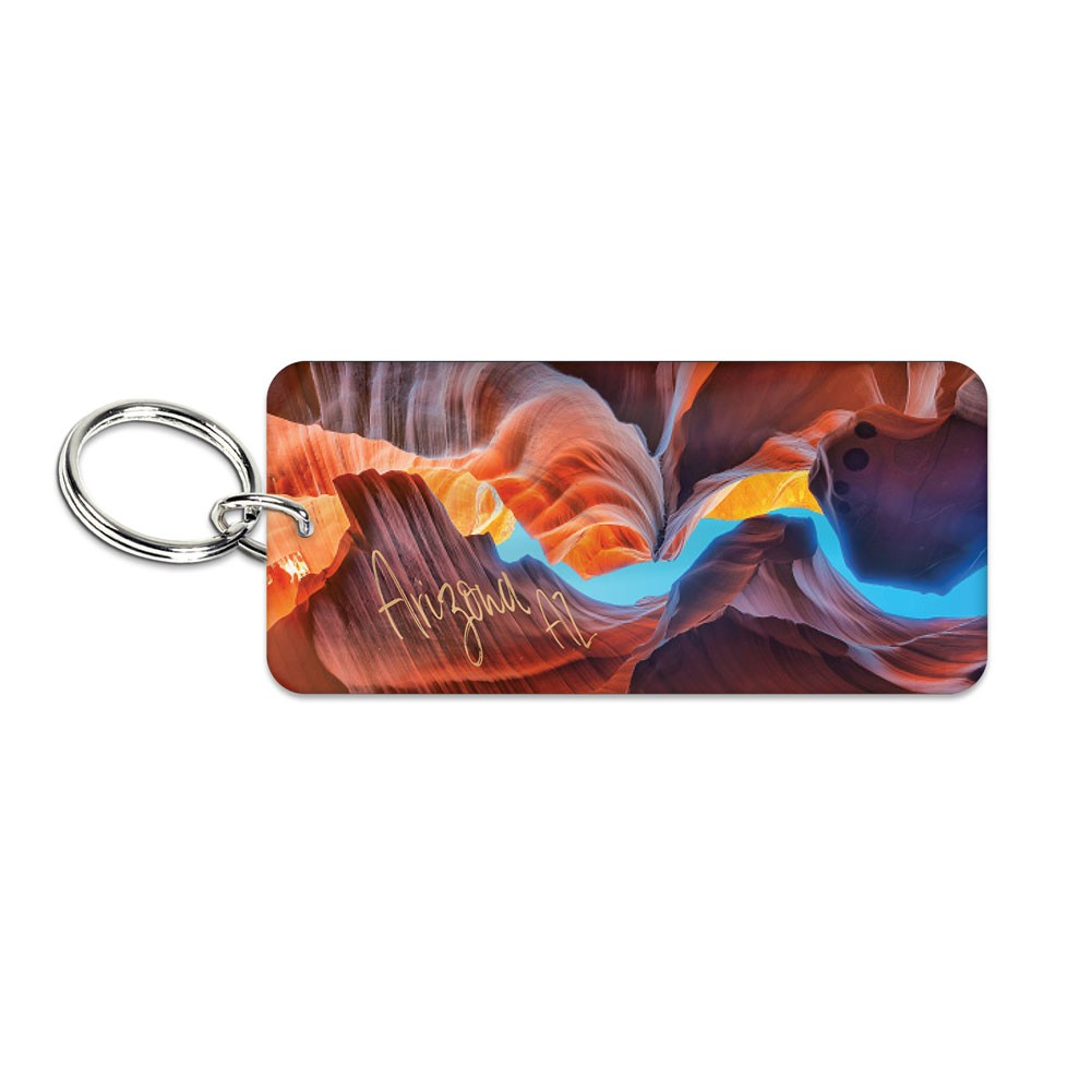Image For Keychain: ARIZONA AZ Antelope Canyon Acrylic Key Ring Glossy