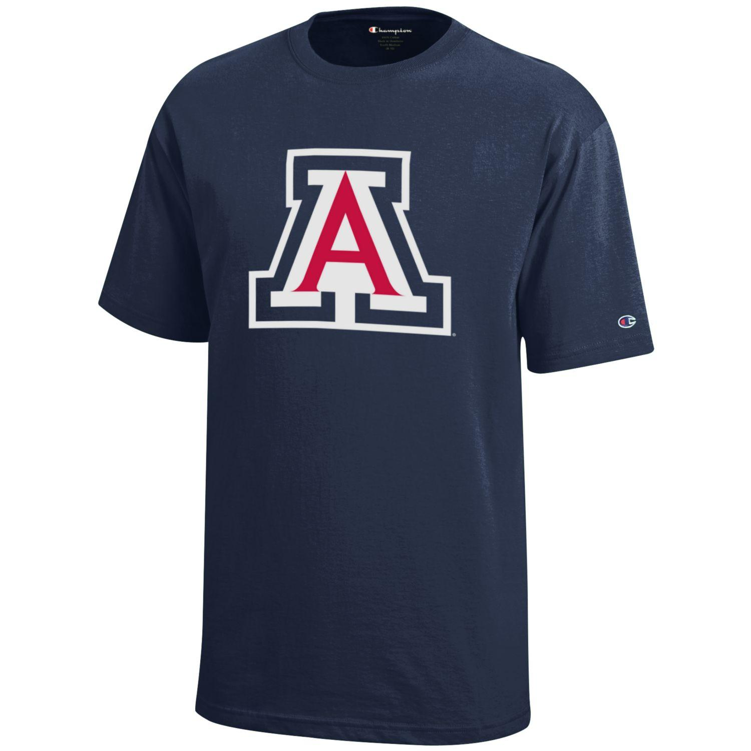 Image For Champion: Arizona Logo YOUTH Jersey Tee - Navy