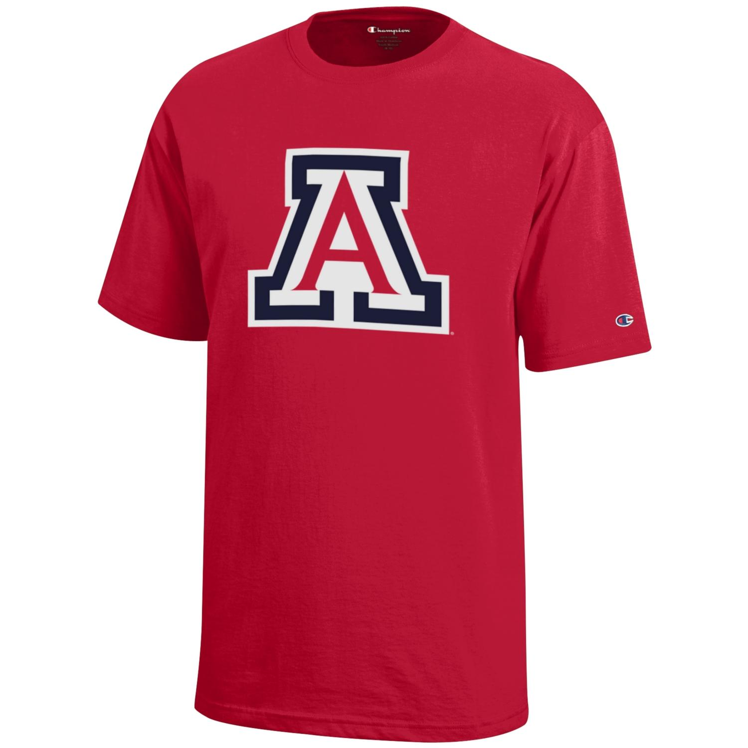 Image For Champion: Arizona Logo YOUTH Jersey Tee - Red