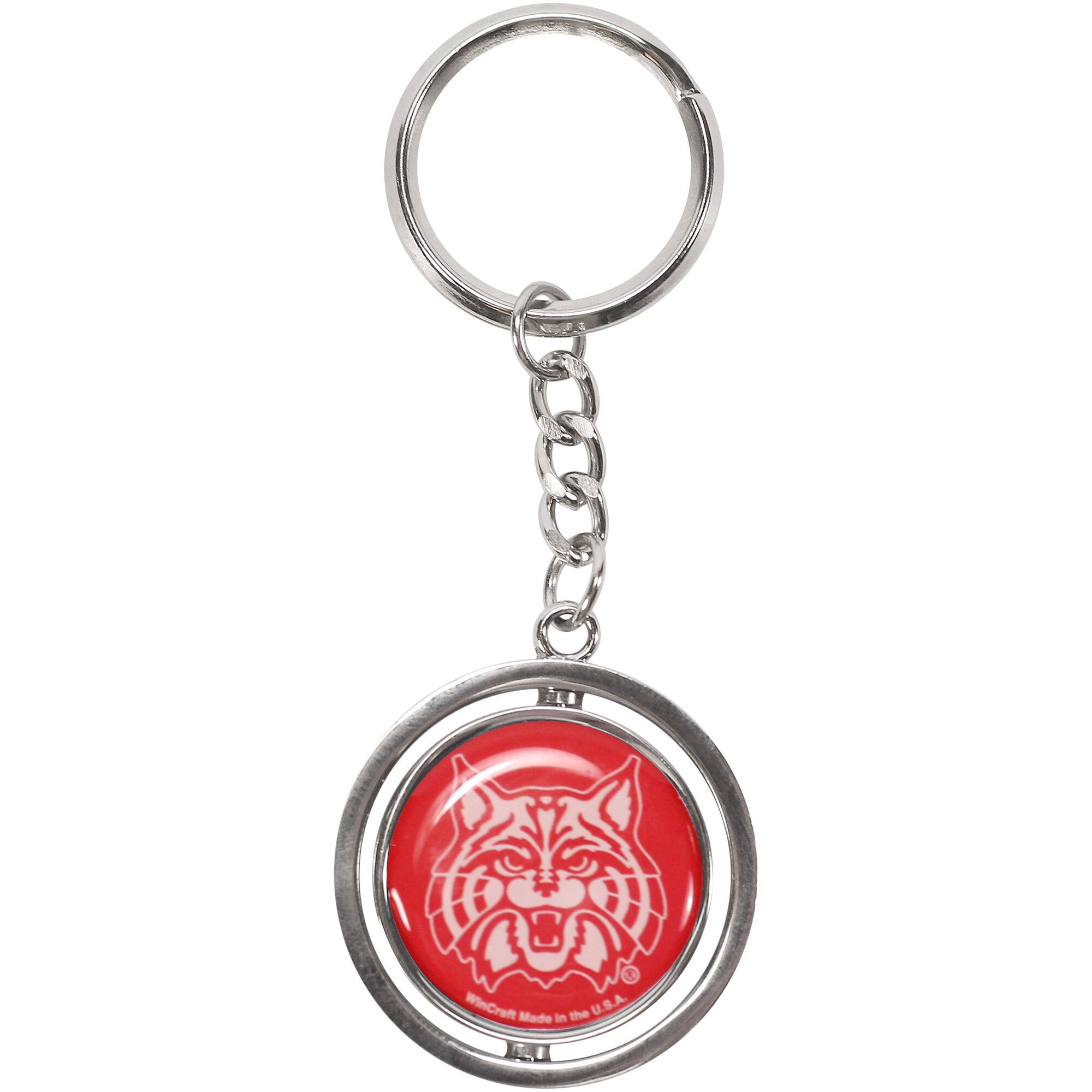 Image For Keychain: Arizona CATS and Wildcat Fat Spinner Key Ring